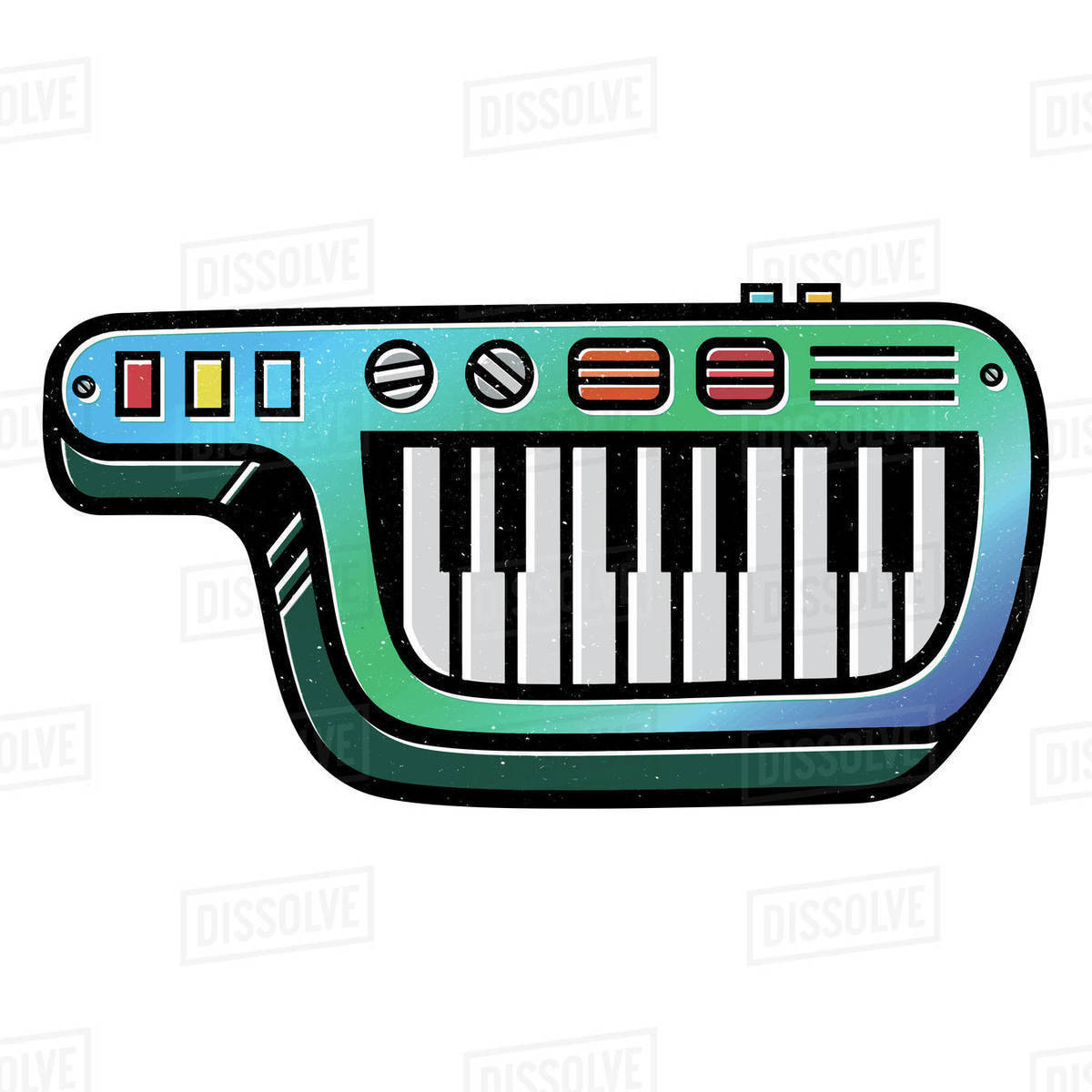 Illustration of keytar isolated on white background Royalty-free stock photo