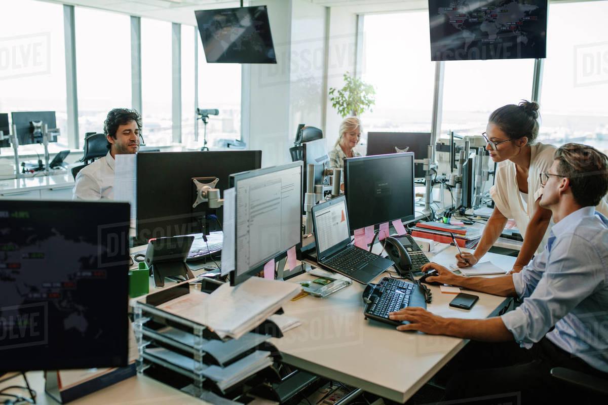 Modern Office Team Working At Desks