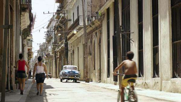 City view of Havana, Cuba. People walking in the streets of Habana Vieja Royalty-free stock video