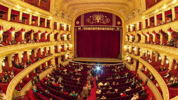 People in opera theater timelapse Royalty-free stock video
