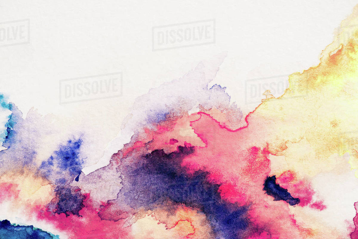 abstract painting with red yellow and blue watercolor paints on white background stock photo dissolve abstract painting with red yellow and blue watercolor paints on d2115 168 762