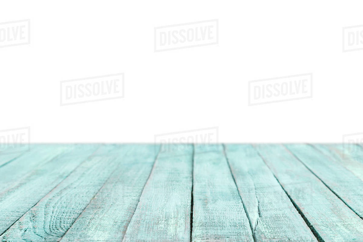 Turquoise Striped Wooden Tabletop On White D2115 202 912