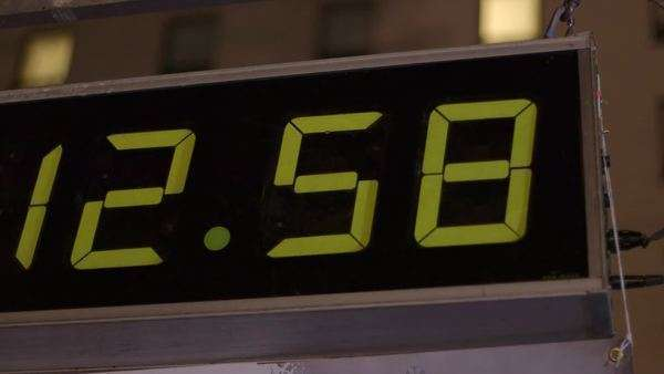 Closeup of a counter clock Royalty-free stock video