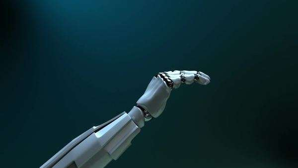 Animated robot hand gives thumbs up Royalty-free stock video