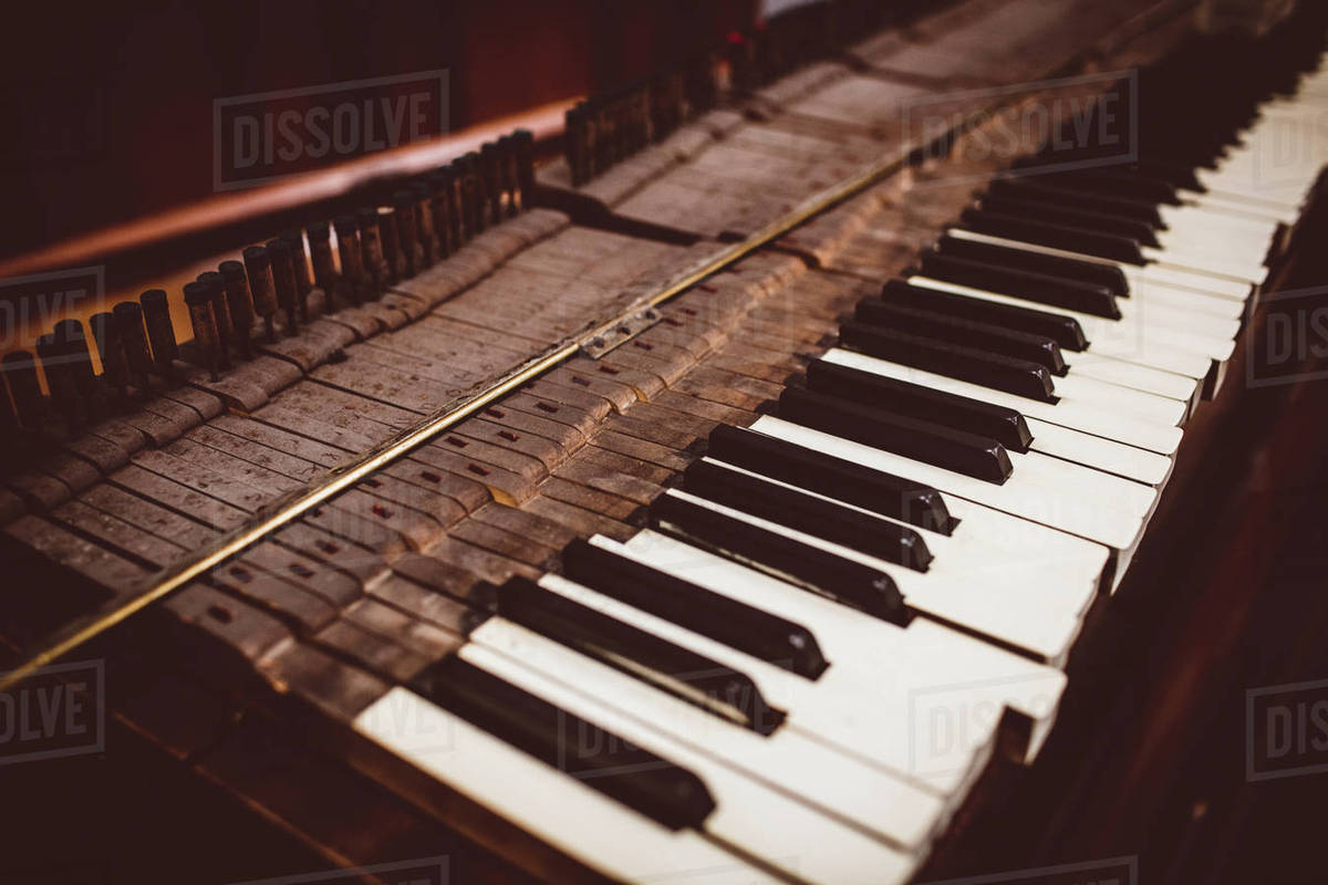 close up of a old piano keyboard at workshop stock photo dissolve. Black Bedroom Furniture Sets. Home Design Ideas