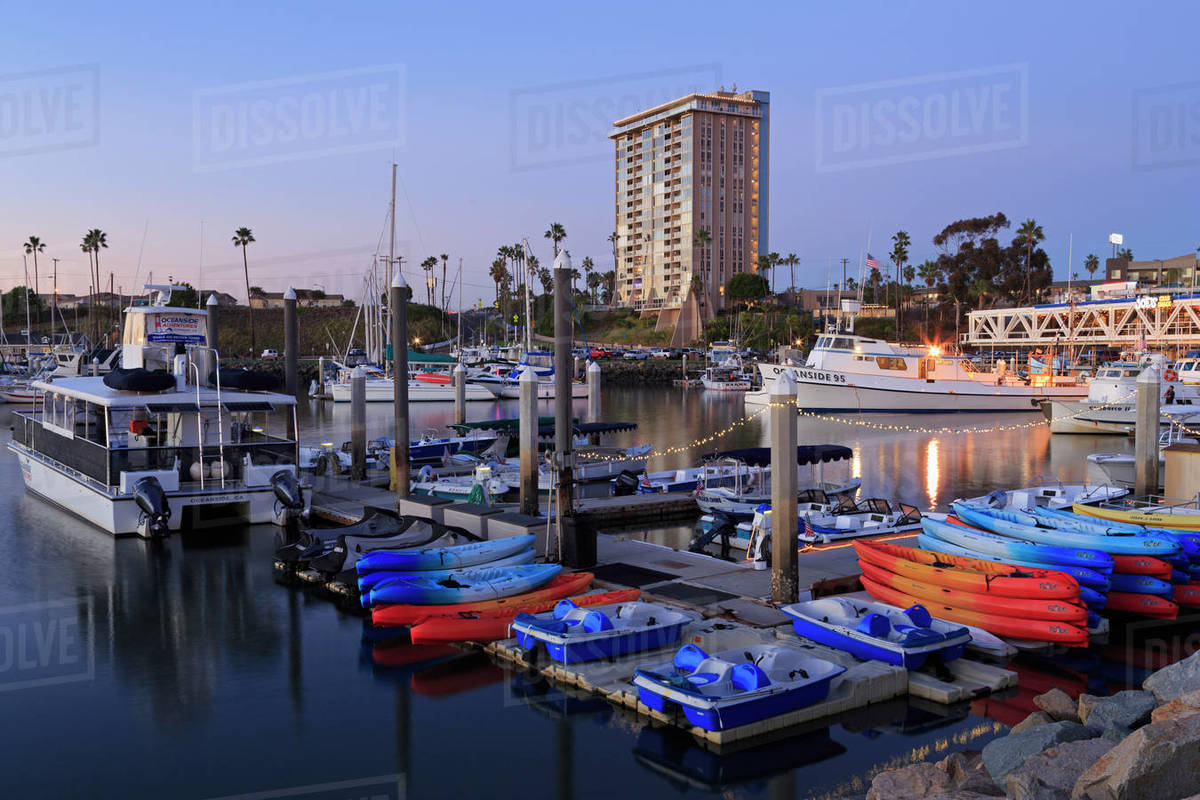 Oceanside Harbour Village, San Diego County, California, United States of  America stock photo