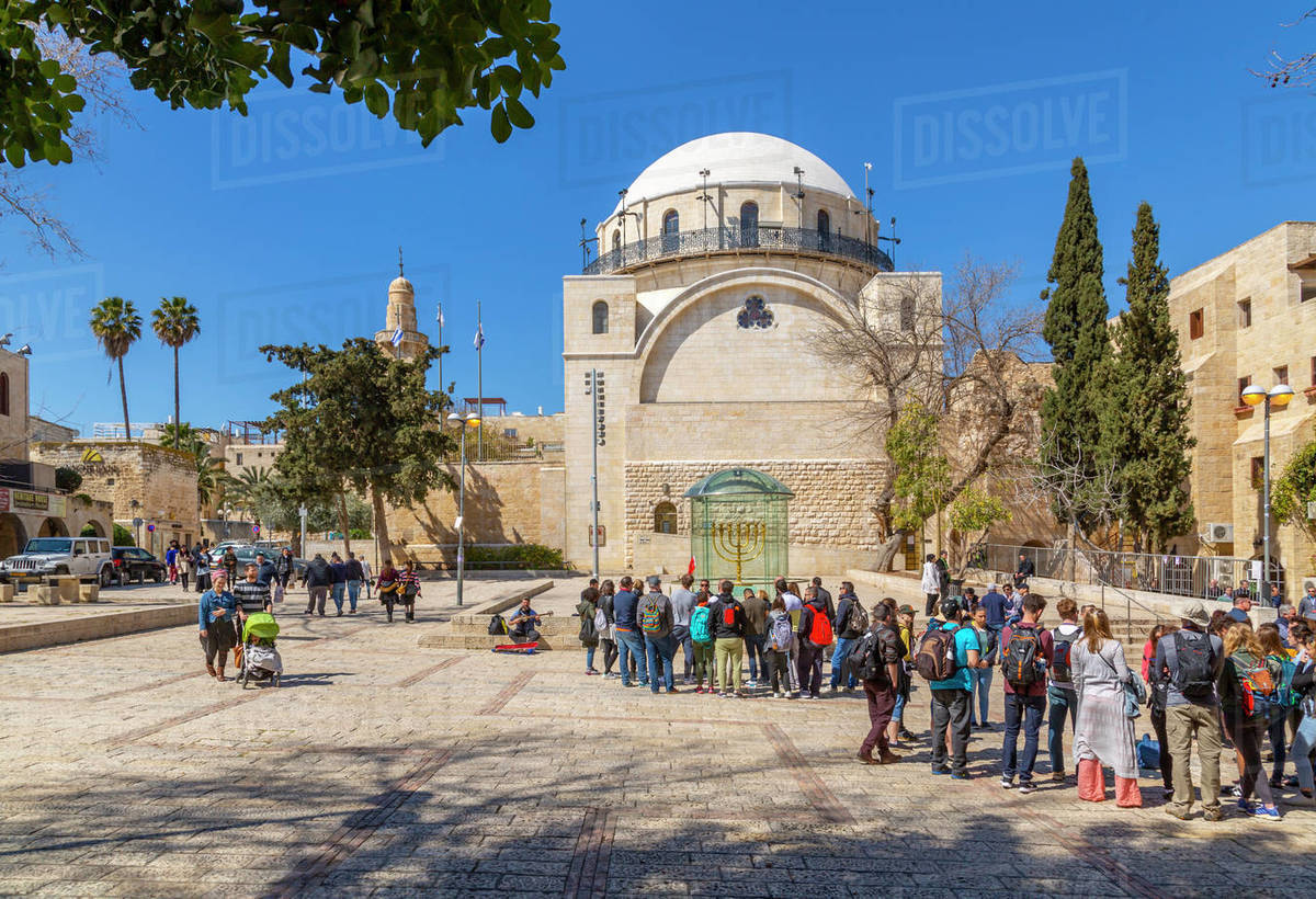 Hurva Synagogue in Old City, Old City, UNESCO World Heritage Site, Jerusalem, Israel, Middle East Royalty-free stock photo
