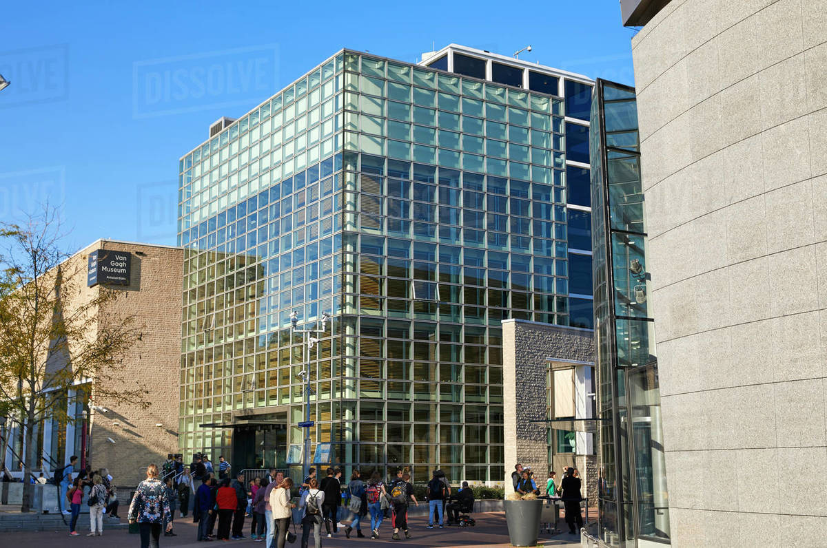 Van Gogh Museum in Amsterdam, North Holland, The Netherlands, Europe Royalty-free stock photo