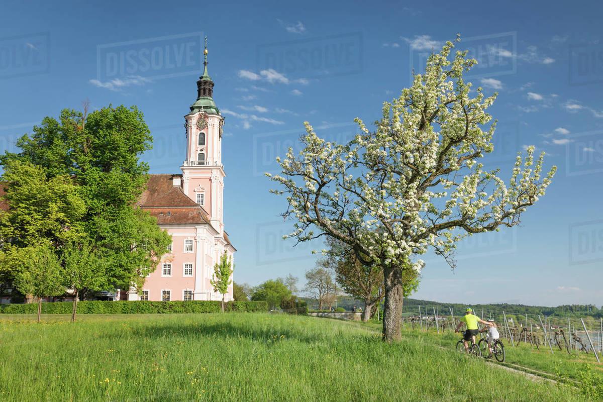 Birnau Pilgrimage Church, Unteruhldingen, Lake Constance, Baden-Wurttemberg, Germany, Europe Royalty-free stock photo