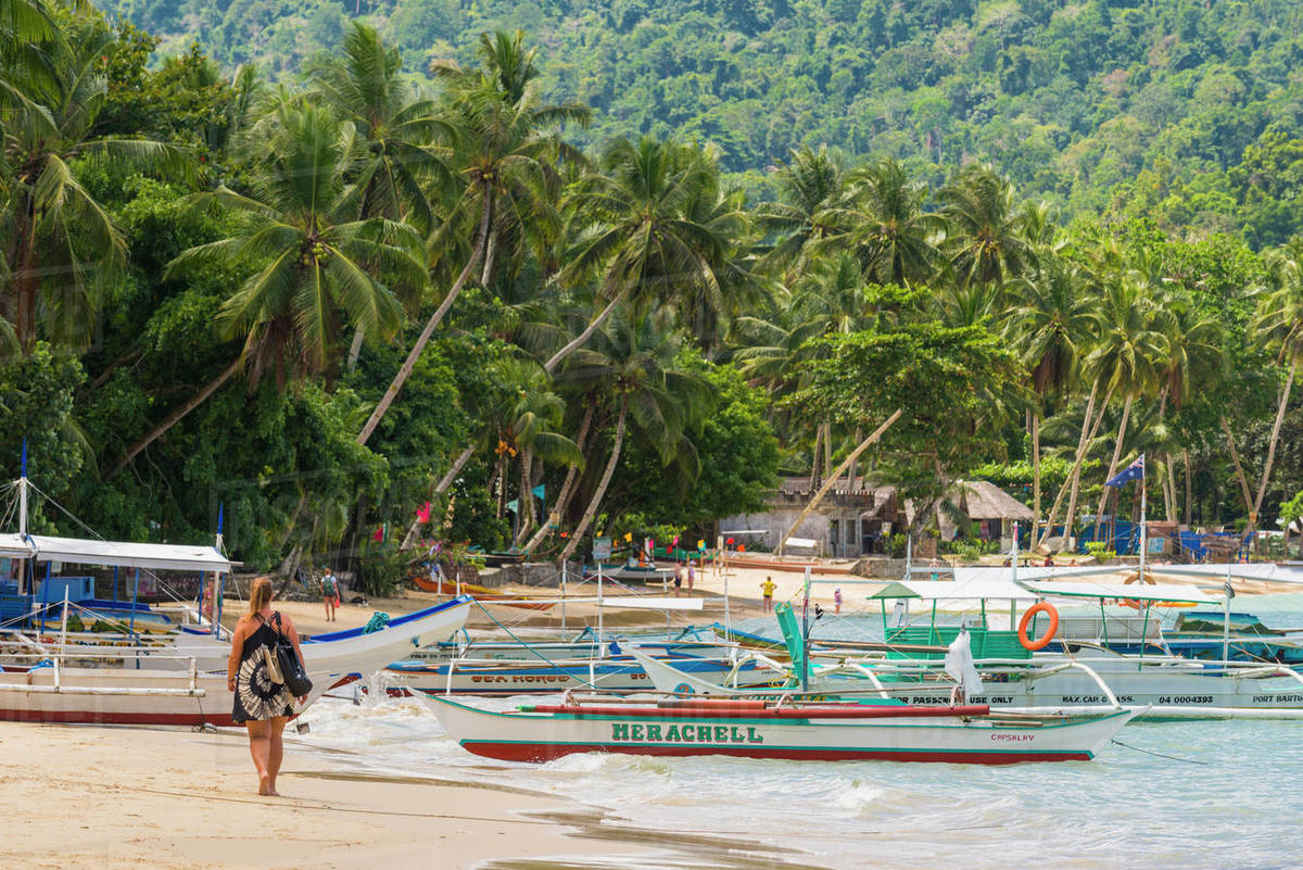 Port Barton, Palawan, Mimaropa, Philippines, Southeast Asia, Asia Royalty-free stock photo