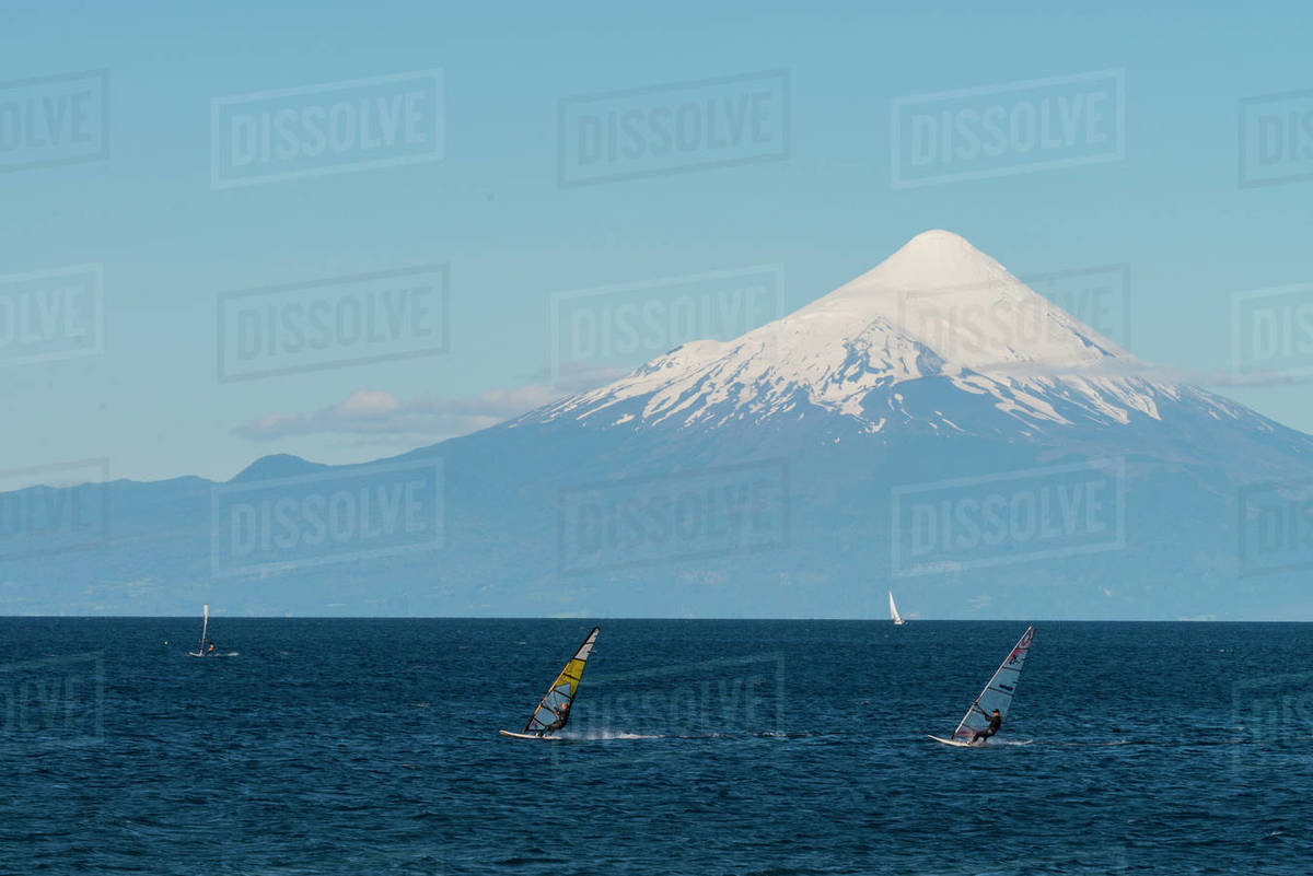 Llanquihue and Volcan Osorno, Puerto Varas, Chilean Lake District, Los Lagos, Chile, South America Royalty-free stock photo