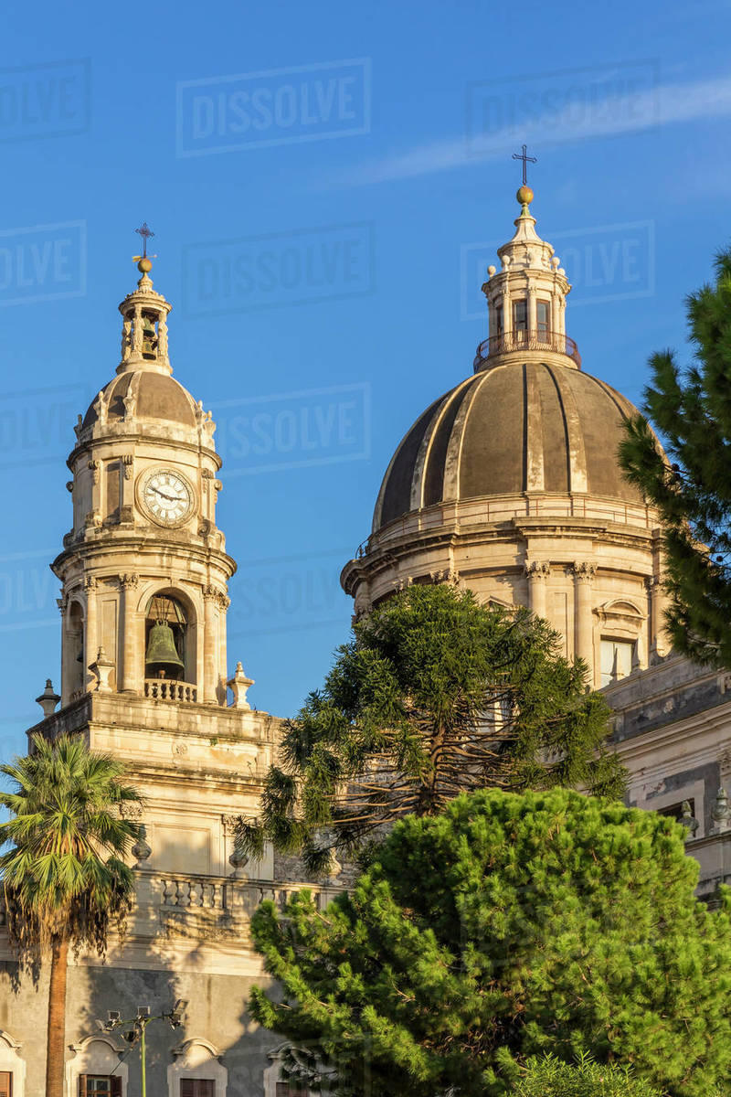 Catania Cathedral, Catania, Sicily, Italy, Europe Royalty-free stock photo