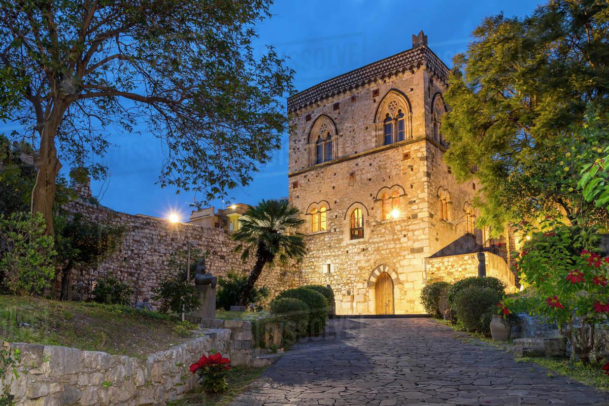The Dukes of Santo Stefano's Palace, Taormina, Sicily, Italy, Europe Royalty-free stock photo