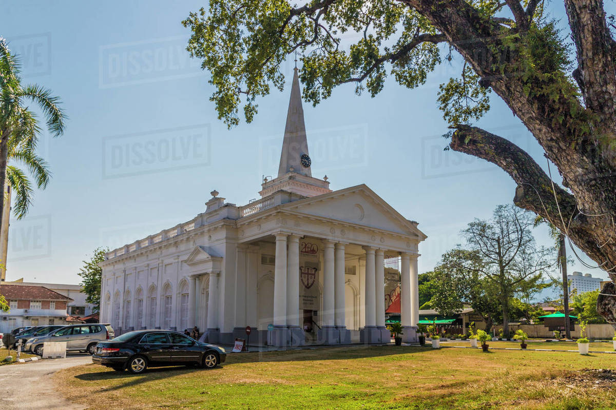 St. Georges church, George Town, Penang Island, Malaysia, Southeast Asia, Asia Rights-managed stock photo