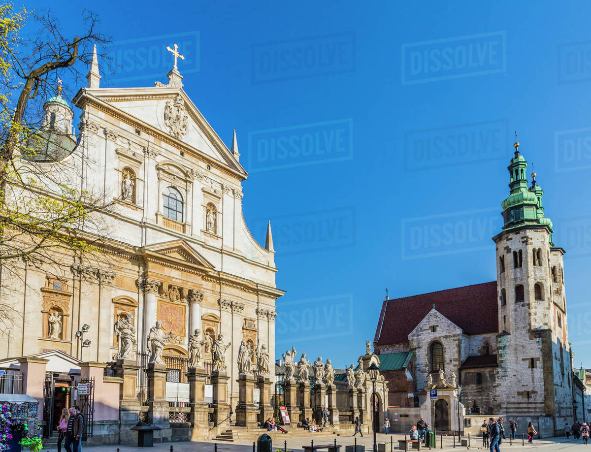 The Church of Saint Peter and Saint Paul in the medieval old town, UNESCO World Heritage Site, in Krakow, Poland, Europe Rights-managed stock photo