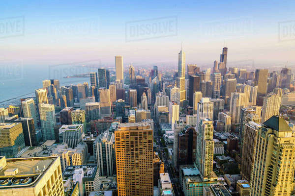 City skyline, Chicago, Illinois, United States of America, North America Royalty-free stock photo