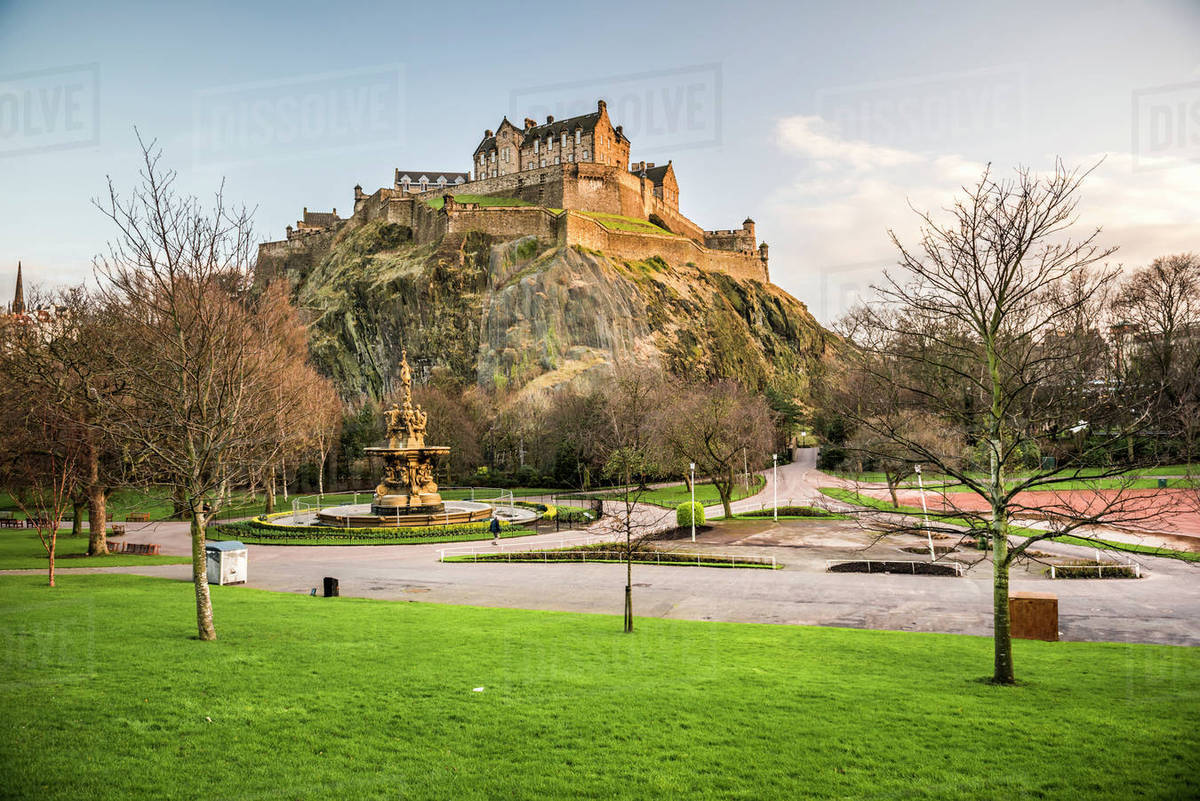Edinburgh Castle, UNESCO World Heritage Site, seen from Princes ...