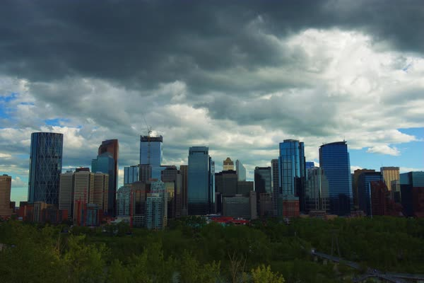 Timelapse shot of Calgary at daytime Royalty-free stock video