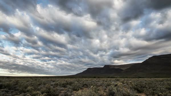 Desert with cloudy sky timelapse Royalty-free stock video