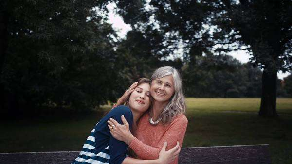 Close mother and daughter have a happy moment together Royalty-free stock video