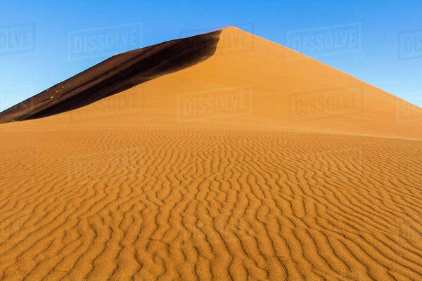Africa, Namibia, Namib-Naukluft National Park. Patterns in sand dune. Royalty-free stock photo