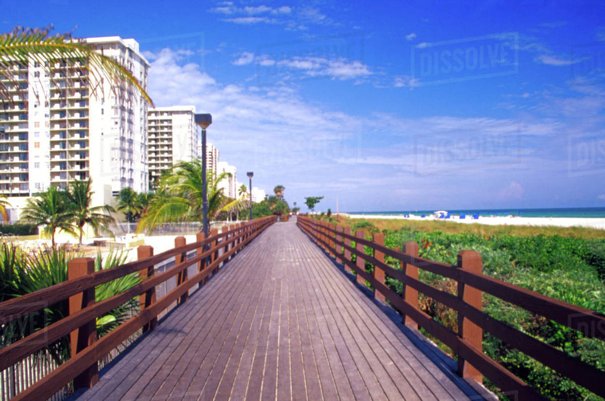 Na Usa Dade County Florida Miami Beach South Boardwalk