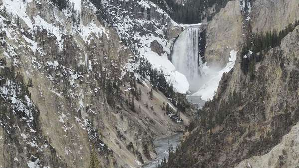 USA, Wyoming, Yellowstone River, Yellowstone Canyon, Lower Falls, Yellowstone National Park Rights-managed stock video