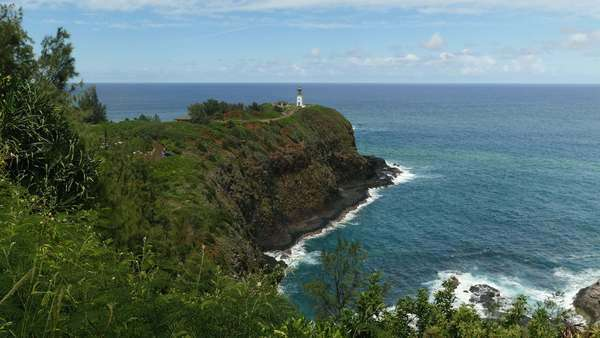 Kilauea Point National Wildlife Refuge, Lighthouse, Kauai, Hawaii Rights-managed stock video