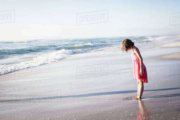 Girl on beach, Cape Town, South Africa Royalty-free stock photo