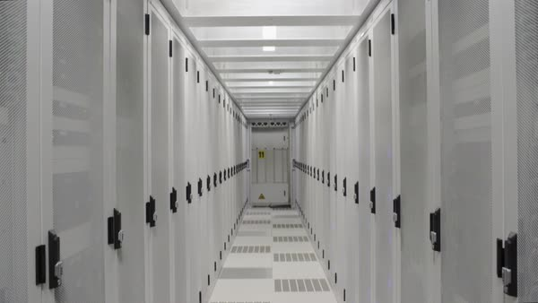 WS Aisle in data center / Amsterdam, North Holland, Netherlands Royalty-free stock video