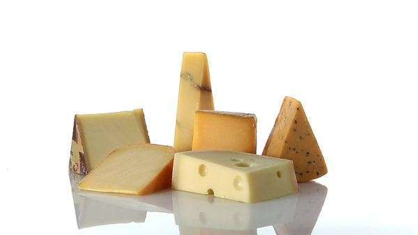 Various cheeses Royalty-free stock video