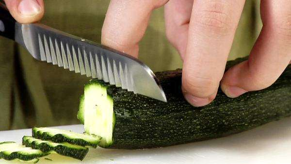 Slicing a courgette Royalty-free stock video