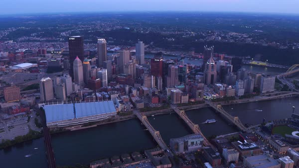 Aerial view of Pittsburgh, Pennsylvania Royalty-free stock video