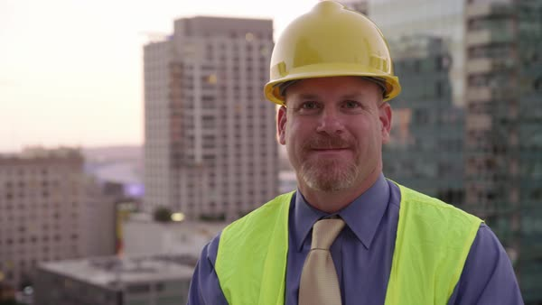 Portrait of construction manager Royalty-free stock video