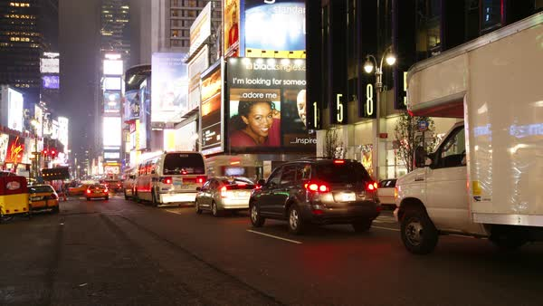 Timelapse shot of Times Square in New York City, 2007 Royalty-free stock video