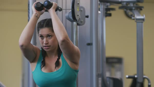 Woman working out at gym Royalty-free stock video