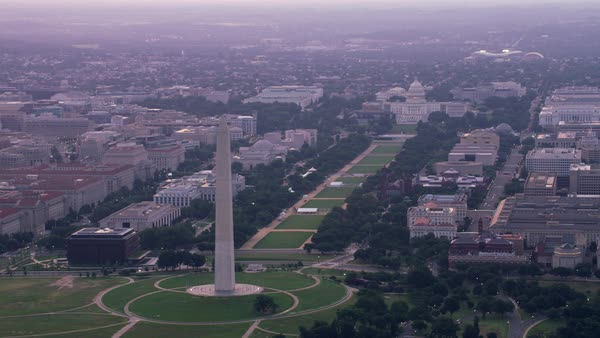 Aerial view of the Washington Monument and Capitol.   Royalty-free stock video