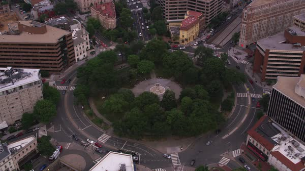 Aerial view of Dupont Circle.   Royalty-free stock video