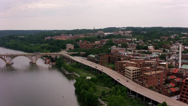 Aerial view of Georgetown University.   Royalty-free stock video