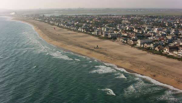 Aerial shot of Sunset Beach.   Royalty-free stock video