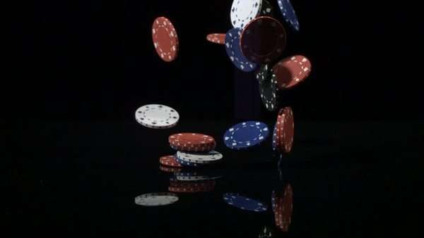 Poker chips falling in super slow motion. Shot with Phantom camera at 6900 frames per second. Royalty-free stock video