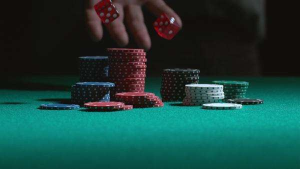 Rolling the dice in slow motion Royalty-free stock video