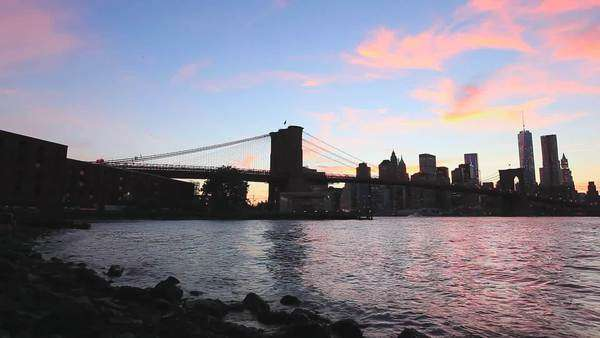 New York City and Brooklyn Bridge Royalty-free stock video