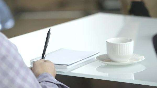 Close-up of table at an informal meeting Royalty-free stock video