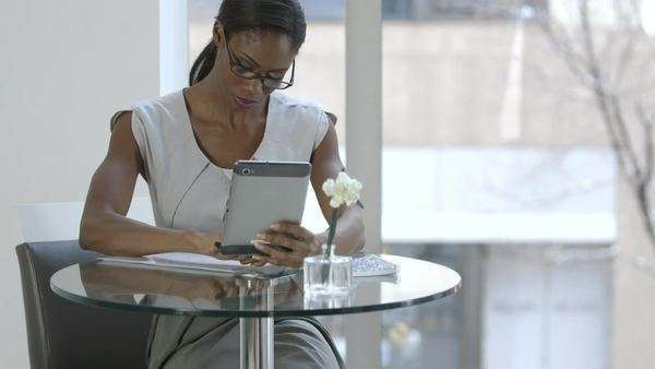 Close-up of businesswoman using tablet Royalty-free stock video