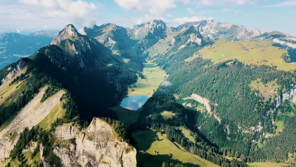 Mountains of Switzerland - Alpstein Mountain Range Panorama Timelapse Royalty-free stock video