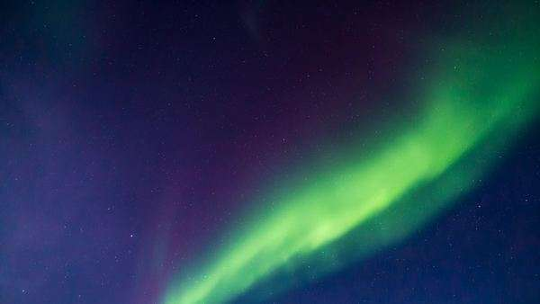 Timelapse of Aurora looking directly above in Yukon, Canada Royalty-free stock video