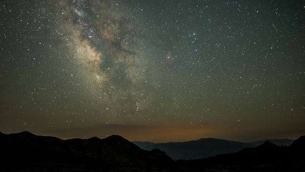 Static timelapse of the Milky Way in Death Valley California Royalty-free stock video