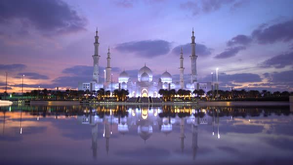 Sheikh Zayed Bin Sultan Al Nahyan Mosque, Abu Dhabi, United Arab Emirates, UAE Royalty-free stock video