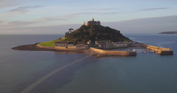 United Kingdom, Cornwall, Marazion, St. Michaels Mount Royalty-free stock video